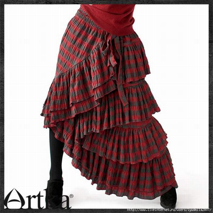 Некоторые удивительные и прекрасные юбки вполне по силам сшить даже самым начинающим портнихам. Одну из таких юбок я вам сейчас покажу и расскажу, как ее сшить. Да-да, ту самую юбку, что на картинке.…