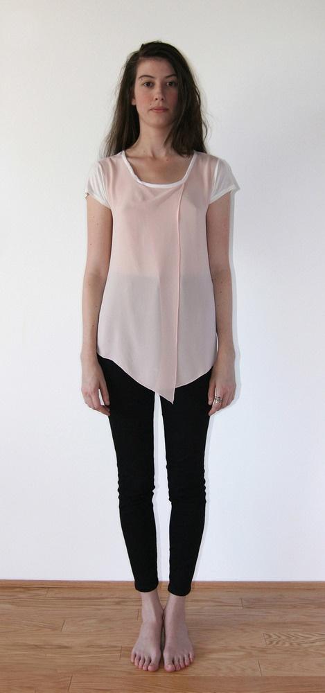 Asymmetrical Drape Front Shirt