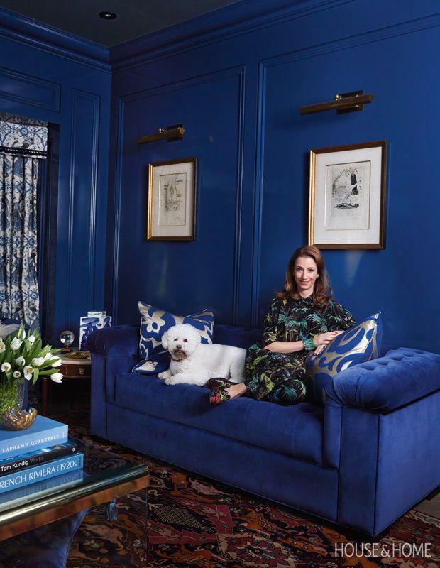 Color Crush Cobalt Blue Is The Hottest Hue Right Now Blue Interior Design Blue Living Room Classic Blue Pantone
