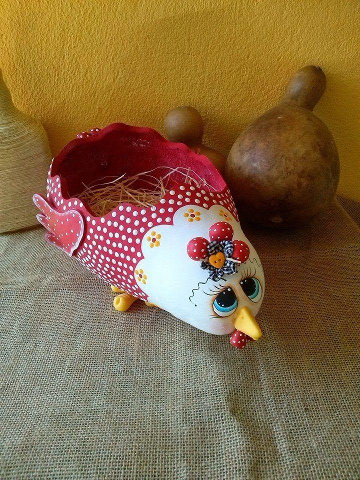 calabazas pintadas a mano gallinas - Buscar con Google