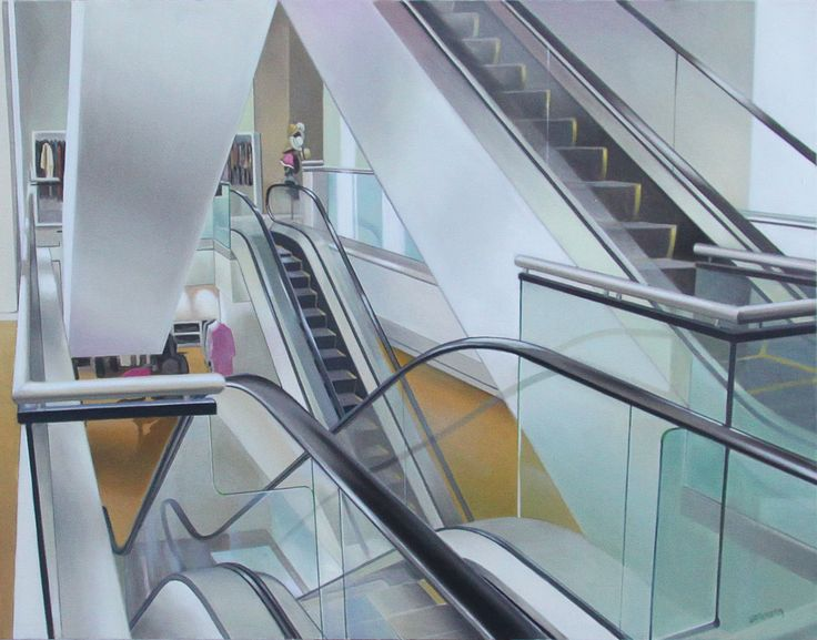 'Upwardly Mobile', 2010, oil on canvas, by Terry Watkinson at Mayberry Fine Art