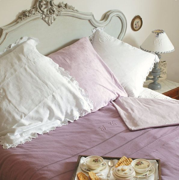 une housse de couette aux tons de rose ancienne r alis e. Black Bedroom Furniture Sets. Home Design Ideas