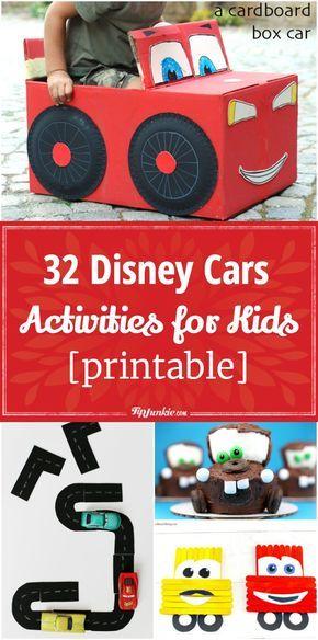 32 Disney Cars Activities for Kids, Games, Parties & Food Ideas via @tipjunkie