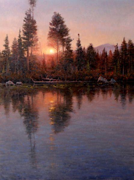 Photo of jim wilcox painting.
