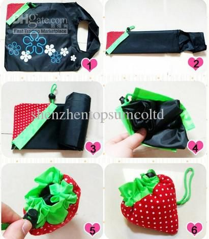 Wholesale Shopping Bags - Buy Portable Cute Strawberry Bags Eco Reusable Shopping Bag Tote Folding Foldable Bag, $0.67   DHgate