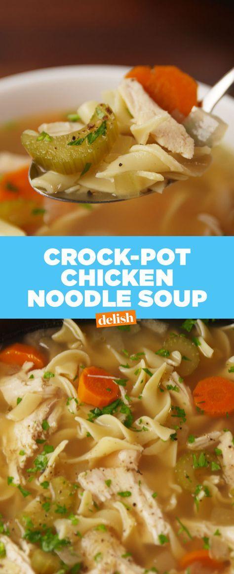 Crock Pot Chicken Noodle Soup Recipe Dinner Ideas Pinterest