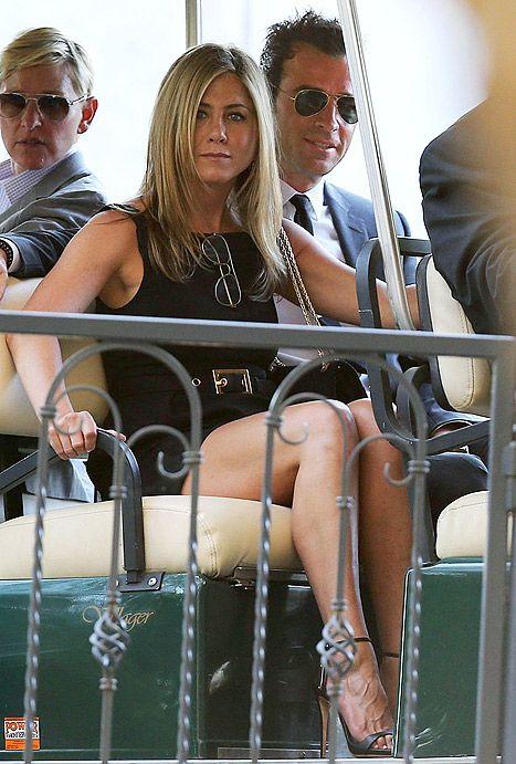 Jennifer Aniston and Justin Theroux Attend Jimmy Kimmel's Wedding