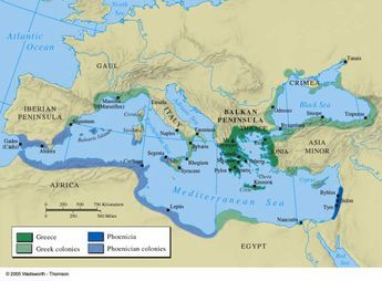 Greek and Phoenician colonies 550 BC