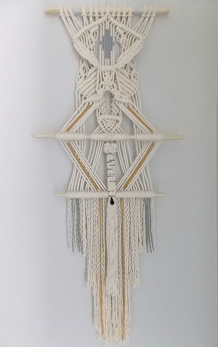 """The sign"" by HIMO ART, macramé wall hanging"