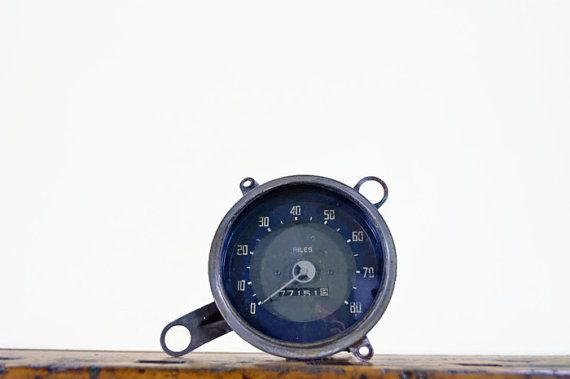 Vintage Automobile Speedometer, 1950s Car Gauge, Motometer
