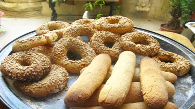 Maltese traditional biscuit with sesame seeds