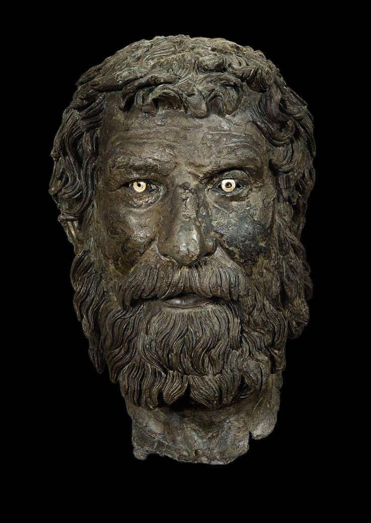 Griechische Kunst, einst für den Verkauf bestimmt: der Bronzekopf eines Philosophen.
