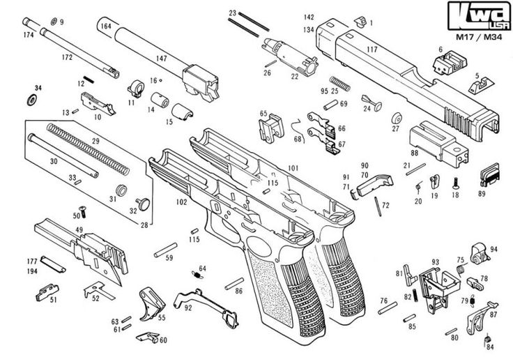 Ruger Pistol Parts Diagram Lan Connection Wiring Glock Nomenclature, Specs, & List | Things That Go Boom Pinterest Guns And Weapons