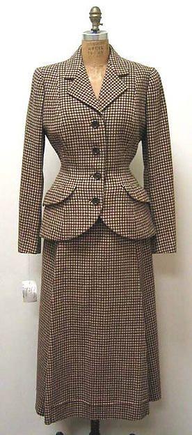 House of Balenciaga Suit Fr. 1949-50 Wool