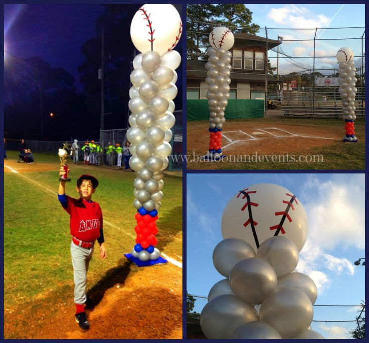 Balloon and Event's Baseball trophy creation