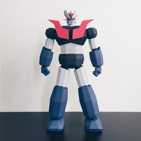 Download on https://cults3d.com #3Dprinting #Impression3D 3D printed Low Poly Mazinger Z, biglildesign