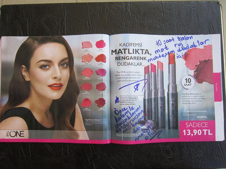 KADİFEMSİ MATLIKTA, RENGARENK DUDAKLAR... 10 SAAT KALICI... #oriflame #güzellik #sağlık #makyaj #kalıcı #matruj #kalıcıruj #kozmetik #dudak #ruj #kadın