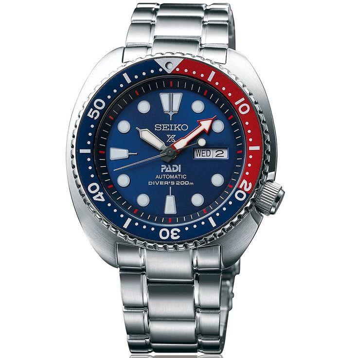 Reloj Seiko para hombre srpa21k1 Padi Prospex , reloj automático con calibre 4r36 en acero y esfera en azul para buceo, diver´s 200, garantía Seiko
