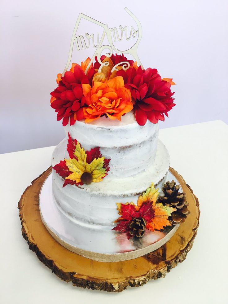 #WeddingCake - Fall Colours #DvasCakes #Cambridge