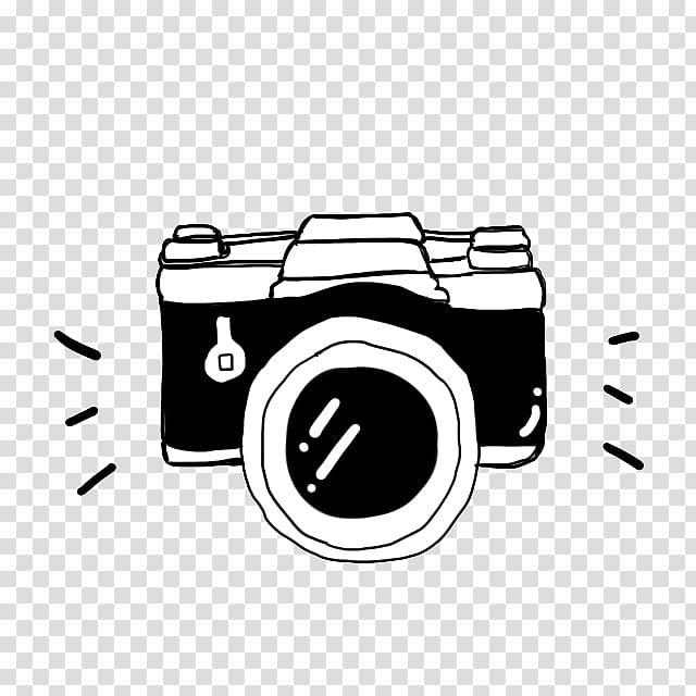 Camera Cartoon Black And White Black Camera Soda Suta Black And White Dslr Camera Sketch Transparent Backg Camera Cartoon Camera Sketches Camera Illustration