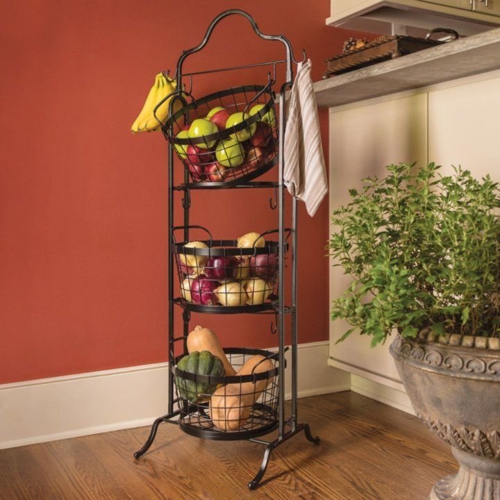 3 Tier Floor Stand Bushel Basket Sam S Club Bushel Baskets Tiered Basket Stand Farmhouse Style Decorating
