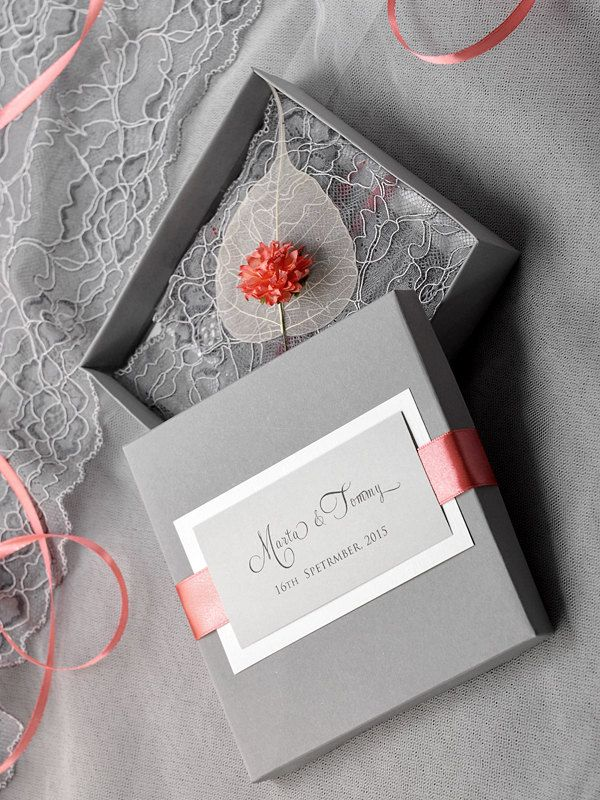 Box and Lace  Wedding Invitation Vintage Wedding by 4LOVEPolkaDots, $9.40