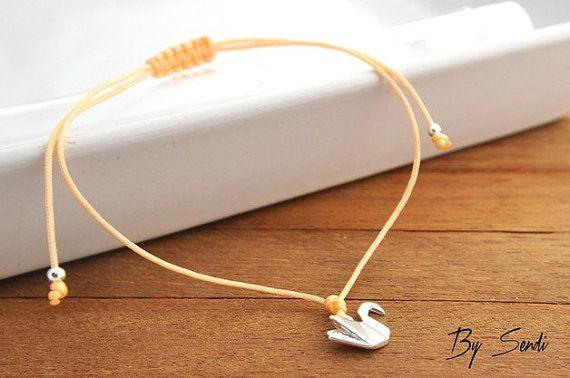 Sterling Silver Swan Bracelet, Small Swan, Swan Silver, Swan charm, Swan…