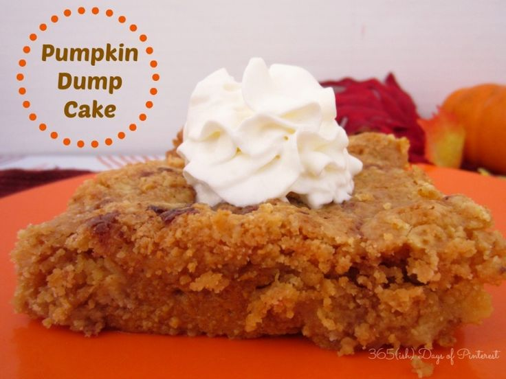 Day 88: Pumpkin Dump Cake - 365ish Days of Pinterest