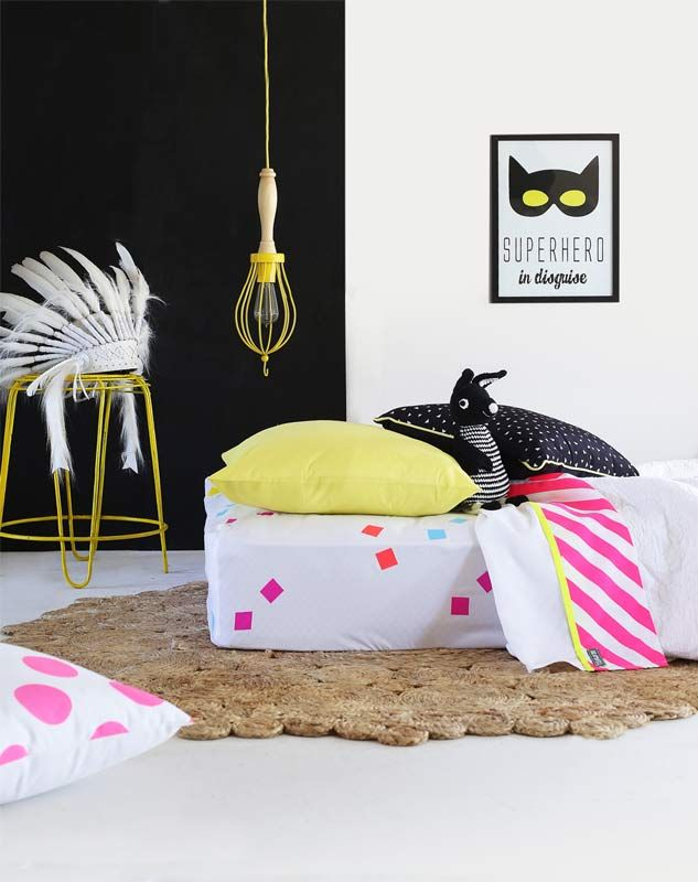 Bramwell Designs Neon Pink Stripe Flat Sheet - Single | Buy Online