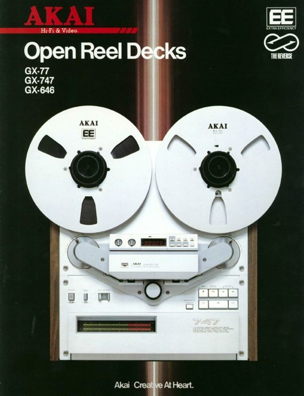 A selection of classic reel to reel tape recorders.