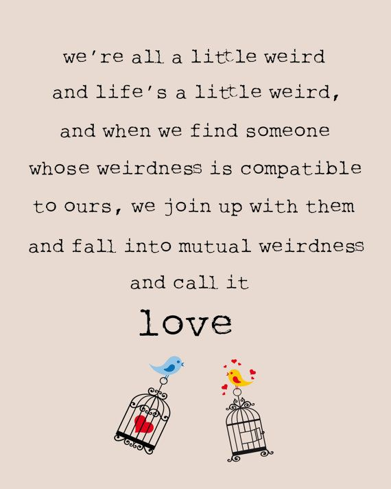 Mutual Weirdness 8x10 Love Print By Atticdestash On Etsy 1200