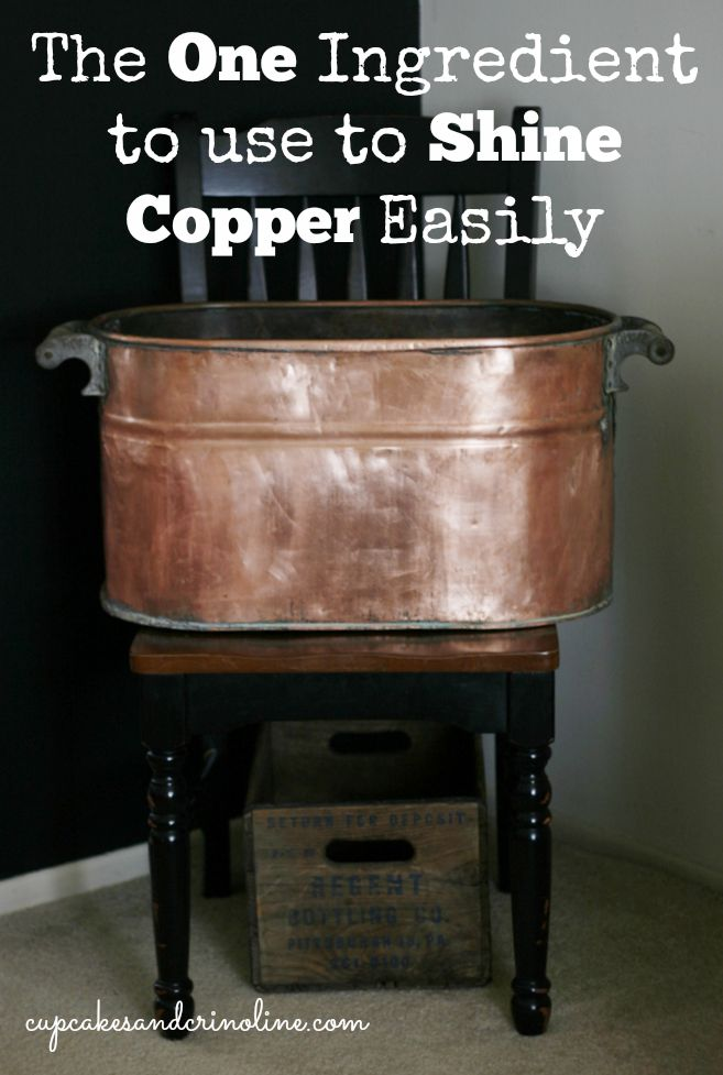 The Easiest Way to Clean Copper - #homemakingtips #copper #cleaning Cupcakes and Crinoline