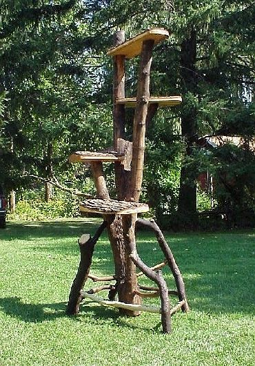 "$1800 cat tree! I love the idea and the aesthetic but that's just craziness. from naturaltreefurniture.com in Kansas. Saw this on ""Must Love Cats"""
