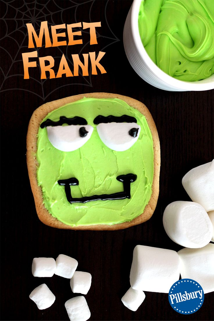 Frank is fun member our Wacky Monster Cookies will who put a smile on your face this Halloween! A fun activity for the whole family. This recipe is easy to make with your kids. You could even make these treats for a cute and creepy party food too!