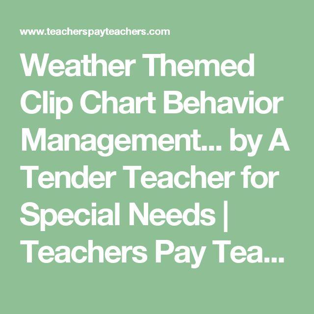 Weather Themed Clip Chart Behavior Management... by A Tender Teacher for Special Needs | Teachers Pay Teachers