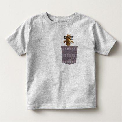 #funny - #giraff peek-a-boo pocket tee nature T-shirt design