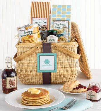 Create a DIY Breakfast/Brunch Basket - an ideal door prize for your New Year's Eve Party!