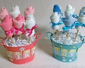 Baby Sock Bouquet - Beautifully perfect gift for any new baby, or as a Baby Shower Centerpiece