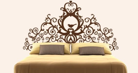 LOVE this wall decal alternative headboard. It comes in various colours and sizes.