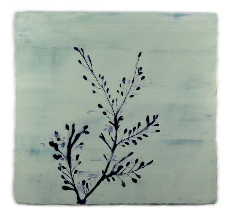 Anke Roder 'seaweed' 2010 encaustic on wood