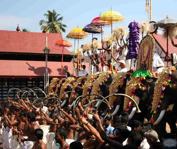 Thrippunithura-Elephants - Panchavadyam