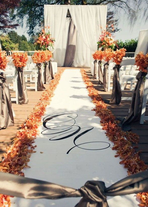 16 Awesome Outside Fall Wedding Ideas Weddinginclude Wedding Aisle Decorations Outdoor Fall Wedding Fall Wedding Decorations