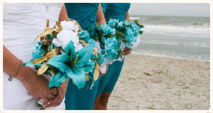 Teal bouquets handmade