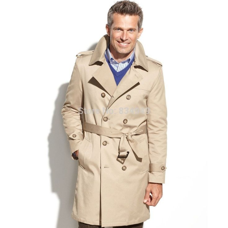 DESIGN YOUR STYLE The perfect fusion of smart and casual style, the beige twill Trench Long Coat is an elegant outerwear option. Wear it with everything from suiting to more casual looks throughout th