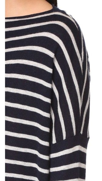 Vince Skinny Stripe Boatneck Sweater