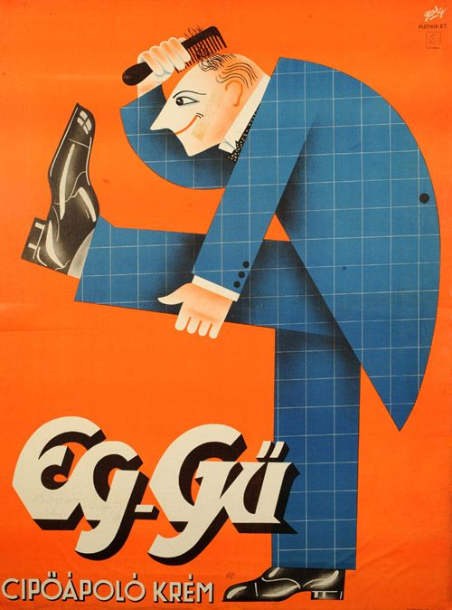 Georg (Adler György): Eg-Gű cipőápoló krém - Kép: Várkonyi Plakátgaléria