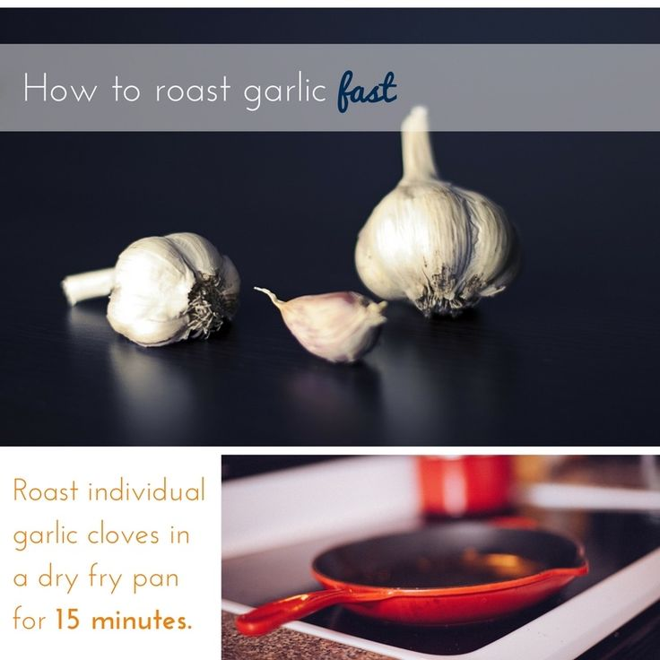 Instructions for how to roast garlic fast