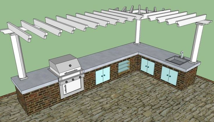 25 best built in gas grills images on pinterest natural for Outdoor kitchen plans pdf