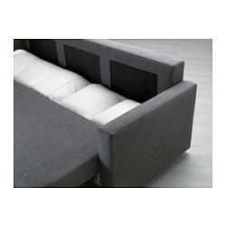 IKEA - FRIHETEN, Sofa bed, Skiftebo dark gray, , Easily converts into a bed.Large practical storage space under the seat.