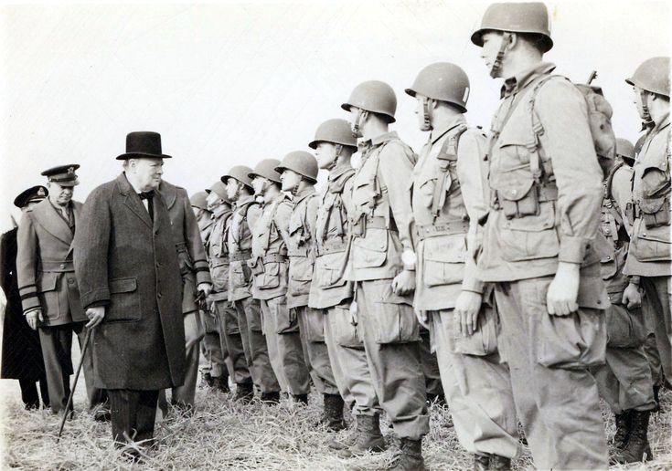 101st airborne easy company | English prime minister Winston Churchill greets and inspects the 506th ...